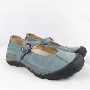Keen | Women's Blue Suede Mary Janes Size 7.5